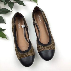 Merona Leopard Spotted Elastic Cushioned Flats